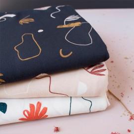 Viscose fabric Atelier Brunette -  Sandstorm Night x 10cm