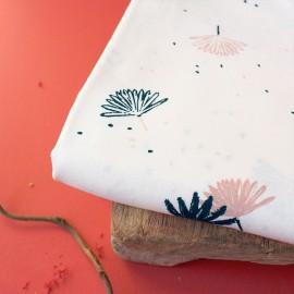 Viscose fabric Atelier Brunette -  Palmetto Off-white x 10cm