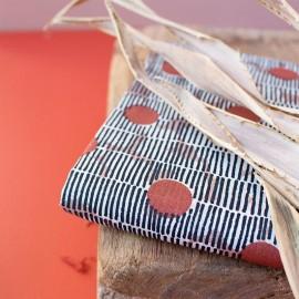 Simple cotton gauze fabric Atelier Brunette - Mirage Chestnut x 10cm