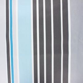 Tissu coton enduit Ainhoa - azur x 10cm