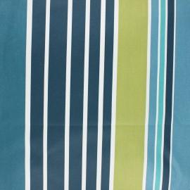 Tissu coton enduit Ainhoa - bleu x 10cm