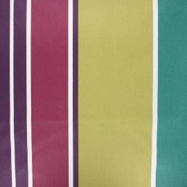 Tissu coton enduit Ainhoa - prune x 10cm