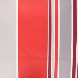 Tissu coton enduit Ainhoa - rouge x 10cm