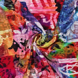 Viscose jersey fabric - multicolor Abstracto x 10 cm