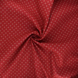 Poplin cotton fabric - red Wiri x 10cm