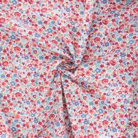 Poplin cotton fabric - pink Florido x 10cm