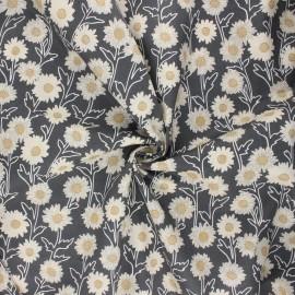 Poplin cotton fabric - grey Margarida x 10cm