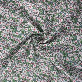 Poplin cotton fabric - green Hona x 10cm