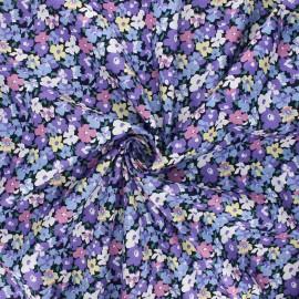 Poplin cotton fabric - purple Tahaa x 10cm