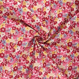 Poplin cotton fabric - pink Tahaa x 10cm
