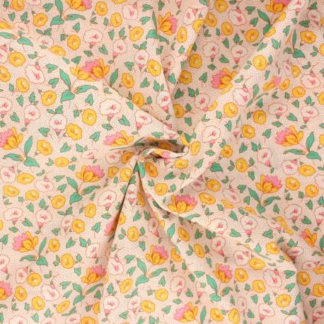 Tissu popeline de coton Manihi - orange x 10cm