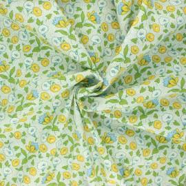 Poplin cotton fabric - green Manihi x 10cm
