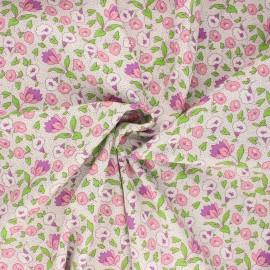 Poplin cotton fabric - purple Manihi x 10cm