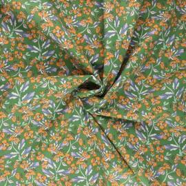 Poplin cotton fabric - green Huelva x 10cm