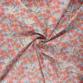 Poplin cotton fabric - lilac Huelva x 10cm