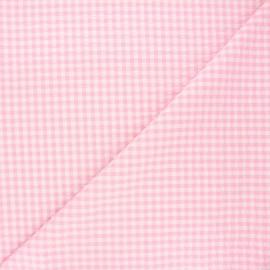 Tissu seersucker vichy Amalfi - rose x 10cm