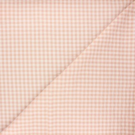 Gingham seersucker fabric - rose water Amalfi x 10cm
