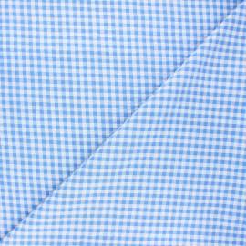 Tissu seersucker vichy Amalfi - bleu x 10cm