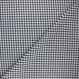 Tissu seersucker vichy Amalfi - bleu nuit x 10cm