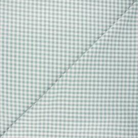 Gingham seersucker fabric - sage green Amalfi x 10cm