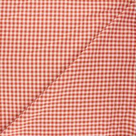 Gingham seersucker fabric - rust Amalfi x 10cm