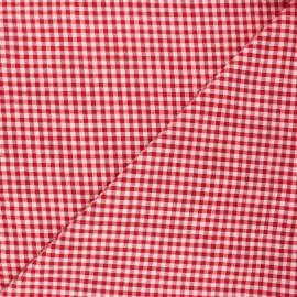 Tissu seersucker vichy Amalfi - rouge x 10cm