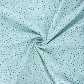 Tissu voile de coton lavé flammé à pois by Penelope - bleu clair x 10cm