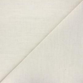 Tissu toile métis coton/lin 250g/m2- écru x 10cm