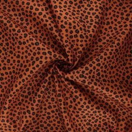 Poppy poplin cotton fabric - caramel Animal skin B x 10cm