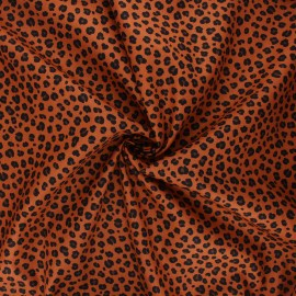 Tissu coton popeline Poppy Animal skin B - caramel x 10cm