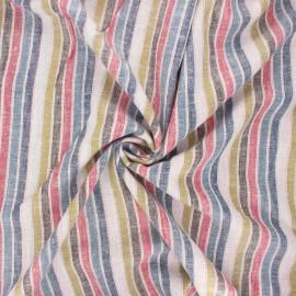Tissu voile de lin viscose Croisette - bleu x 10 cm