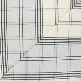 Tissu toile coton carreaux - gris x 10cm