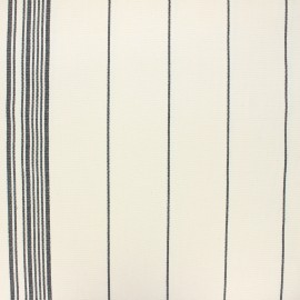 Rondelette canvas fabric rayures - grey x 10cm