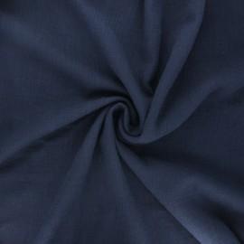 Tissu double gaze de coton Marion - bleu marine x 10cm