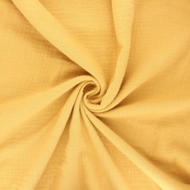 Double gauze fabric - yellow mustard Marion x 10cm