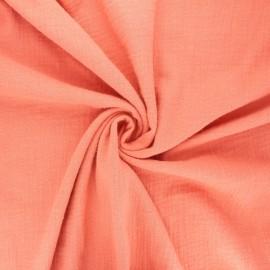 Tissu double gaze de coton Marion - rouille x 10cm