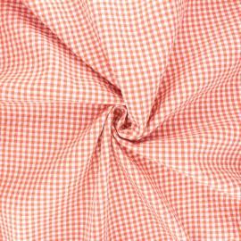 Tissu seersucker vichy Ezra - rouille x 10cm