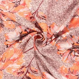 Tissu crêpe de viscose Edda - eau de rose x 10cm