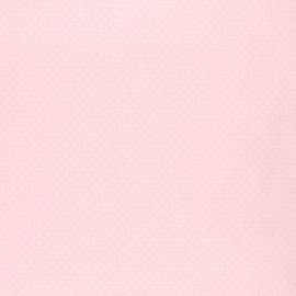 Poppy coated cretonne cotton fabric - baby pink Petit dots x 10cm