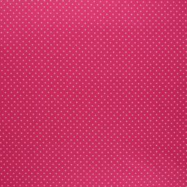 Poppy coated cretonne cotton fabric - raspberry Petit dots x 10cm