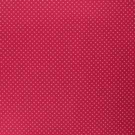 Poppy coated cretonne cotton fabric - cherry Petit dots x 10cm