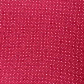 Tissu coton cretonne enduit Poppy Petit dots - cerise x 10cm