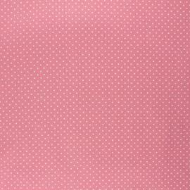 Poppy coated cretonne cotton fabric - blush pink Petit dots x 10cm