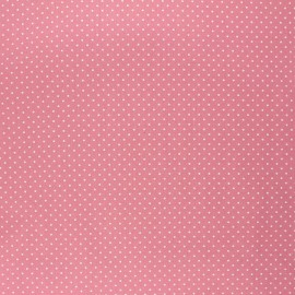 Tissu coton cretonne enduit Poppy Petit dots - rose blush x 10cm