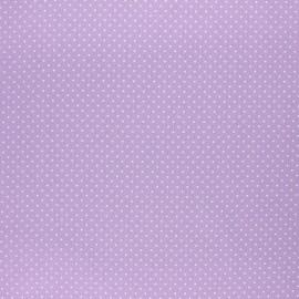 Tissu coton cretonne enduit Poppy Petit dots - lilas x 10cm