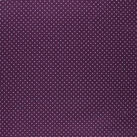 Poppy coated cretonne cotton fabric - purple Petit dots x 10cm