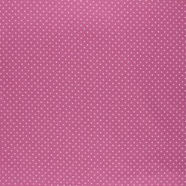 Poppy coated cretonne cotton fabric - fig Petit dots x 10cm