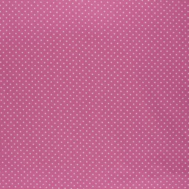 Tissu coton cretonne enduit Poppy Petit dots - figue x 10cm