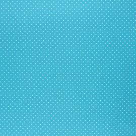 Poppy coated cretonne cotton fabric - azur Petit dots x 10cm