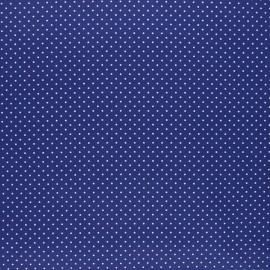 Poppy coated cretonne cotton fabric - blue Petit dots x 10cm